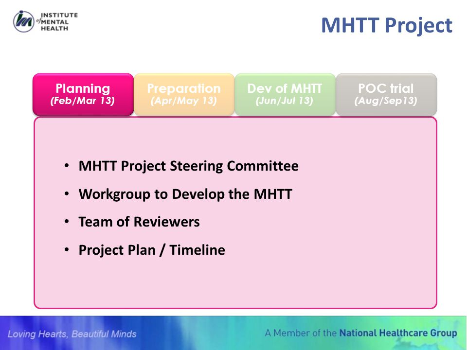 MHTT Project MHTT Project Steering Committee
