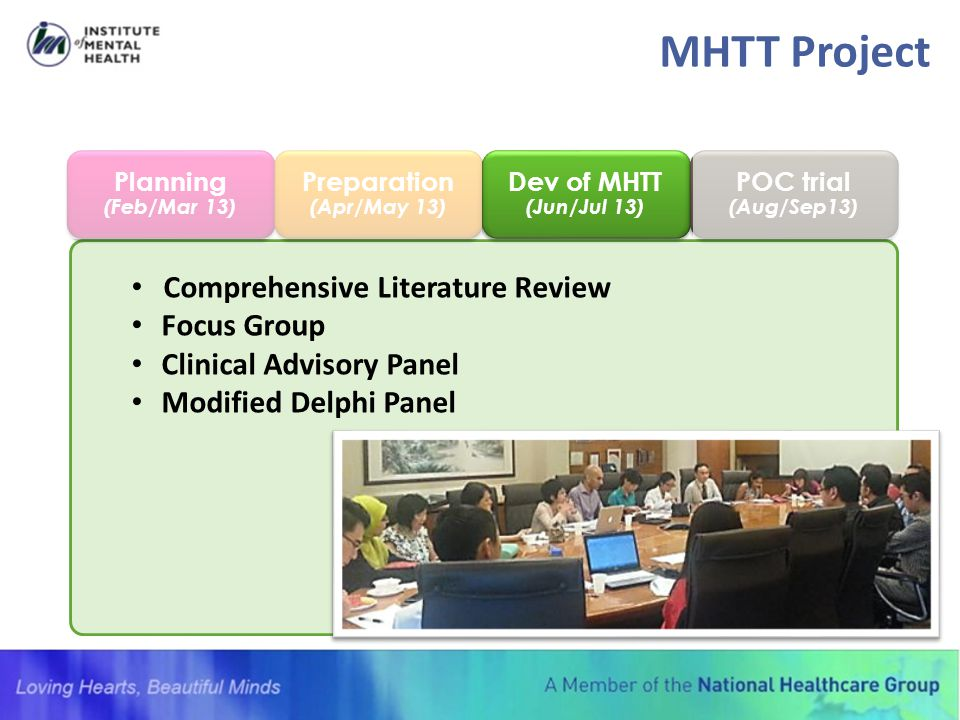 MHTT Project Comprehensive Literature Review Focus Group
