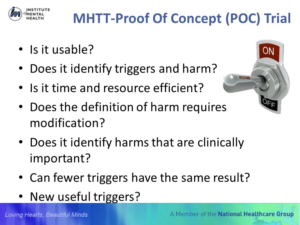 MHTT-Proof Of Concept (POC) Trial