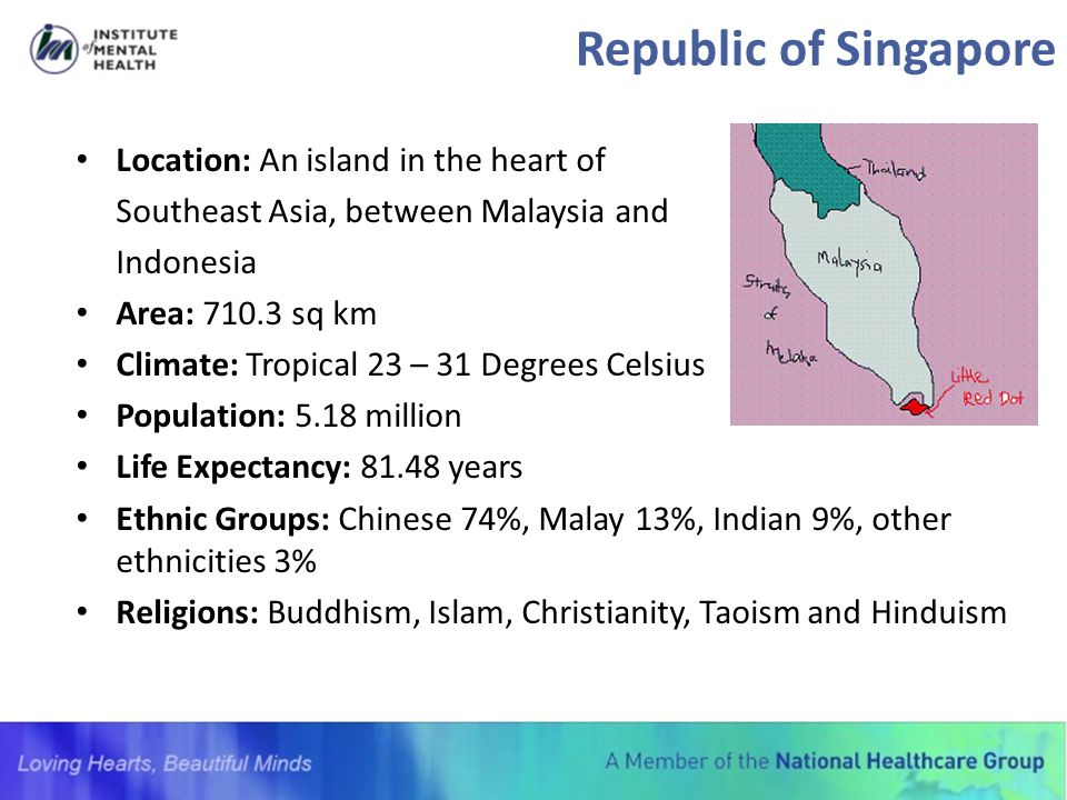 Republic of Singapore Location: An island in the heart of