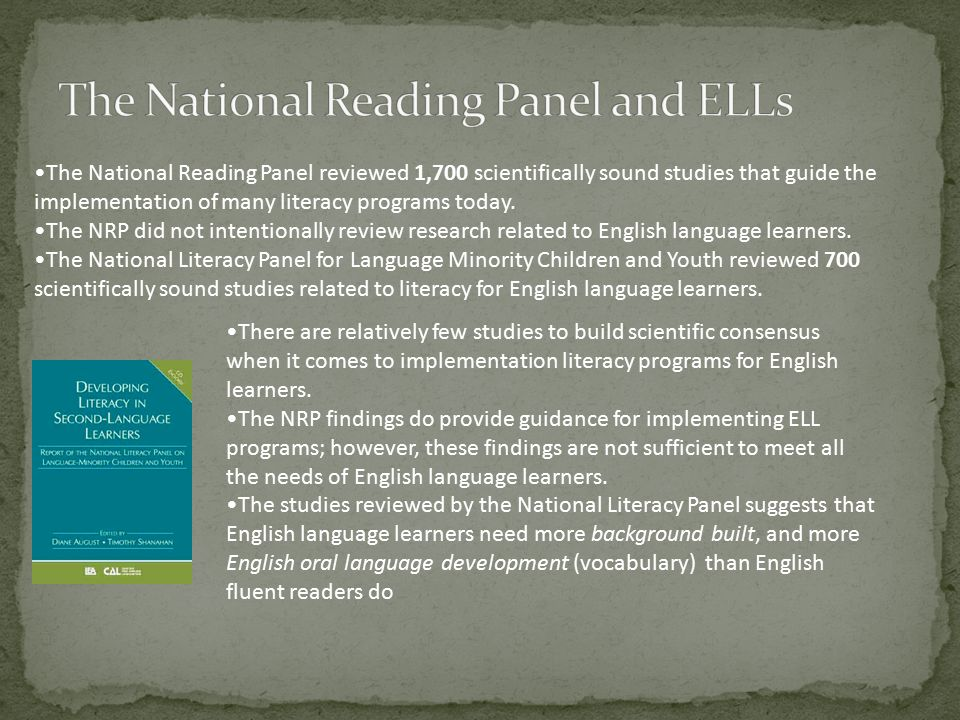 The National Reading Panel and ELLs