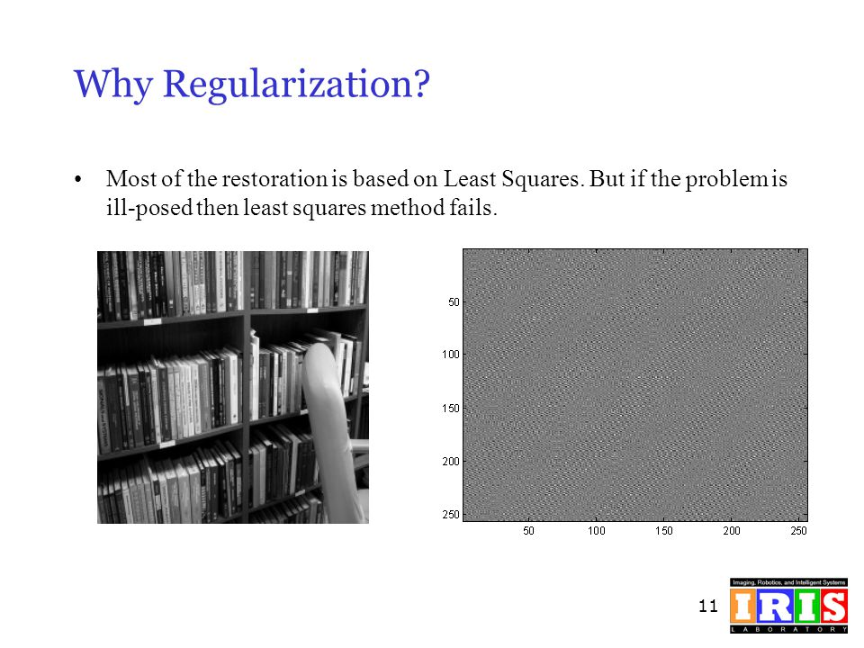 Why Regularization. Most of the restoration is based on Least Squares.