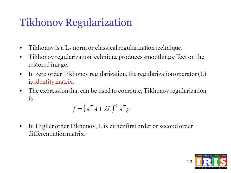 Tikhonov Regularization
