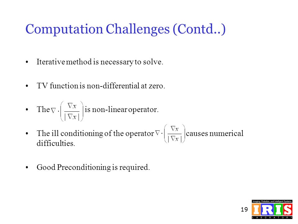 Computation Challenges (Contd..)