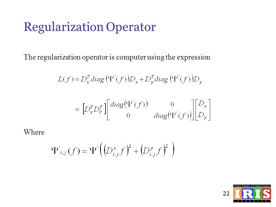 Regularization Operator