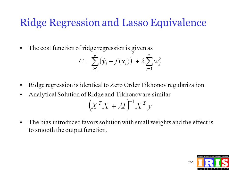 Ridge Regression and Lasso Equivalence
