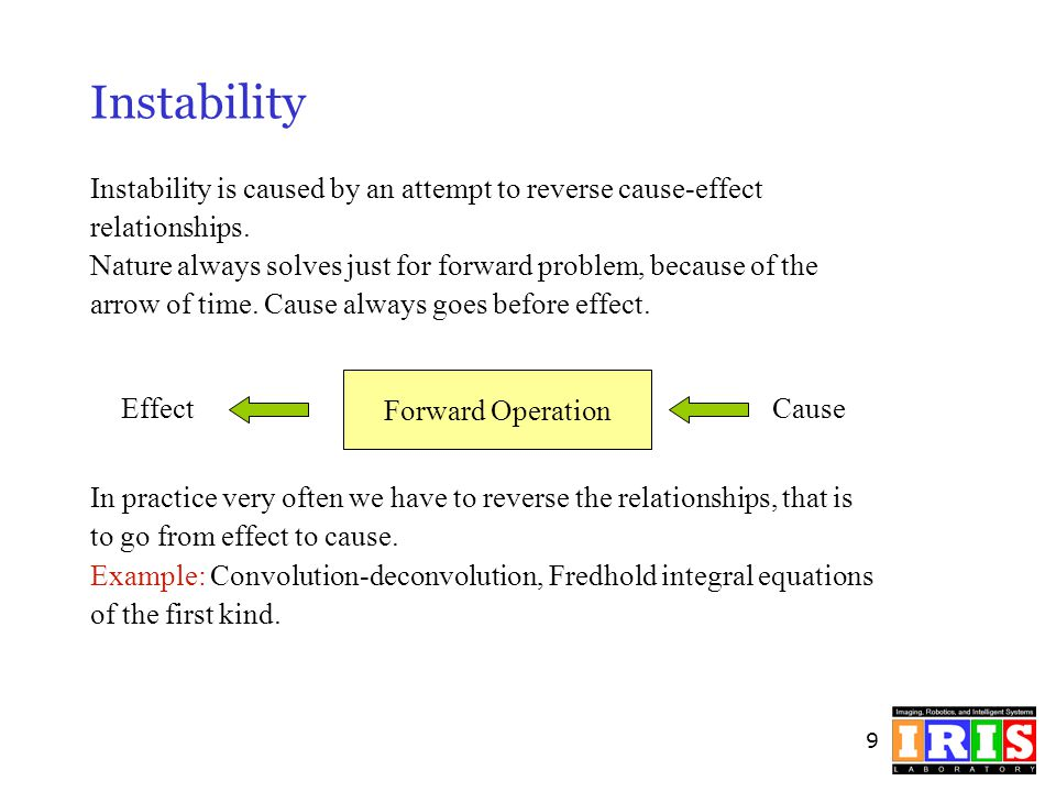Instability Instability is caused by an attempt to reverse cause-effect. relationships.