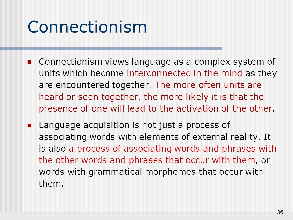 Connectionism