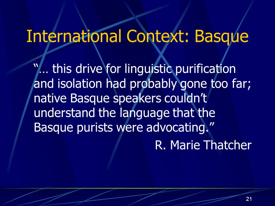 International Context: Basque