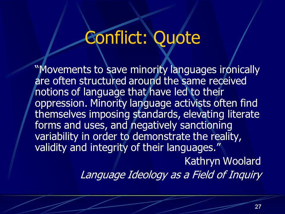 Conflict: Quote