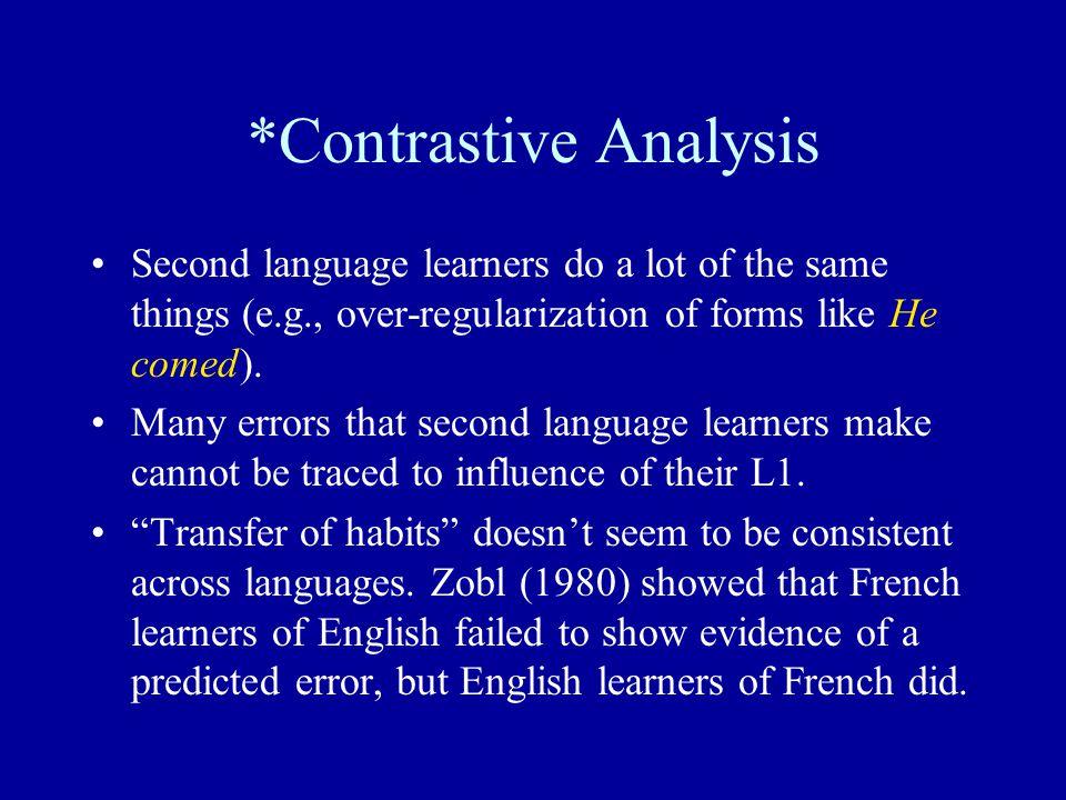 *Contrastive Analysis