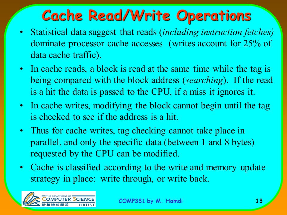 Cache Read/Write Operations