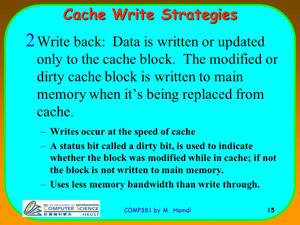 Cache Write Strategies