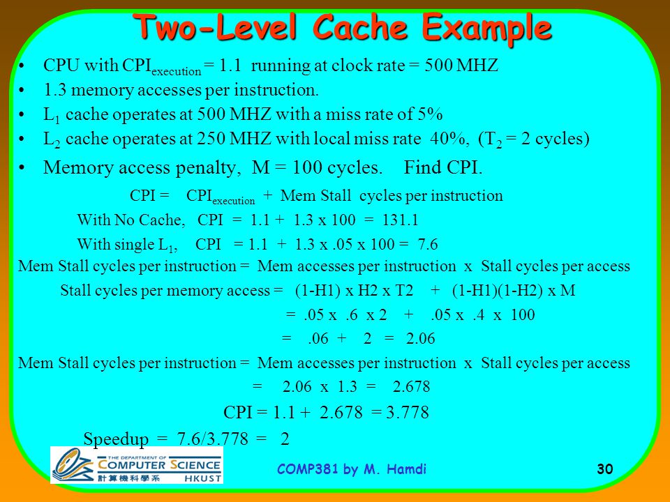 Two-Level Cache Example