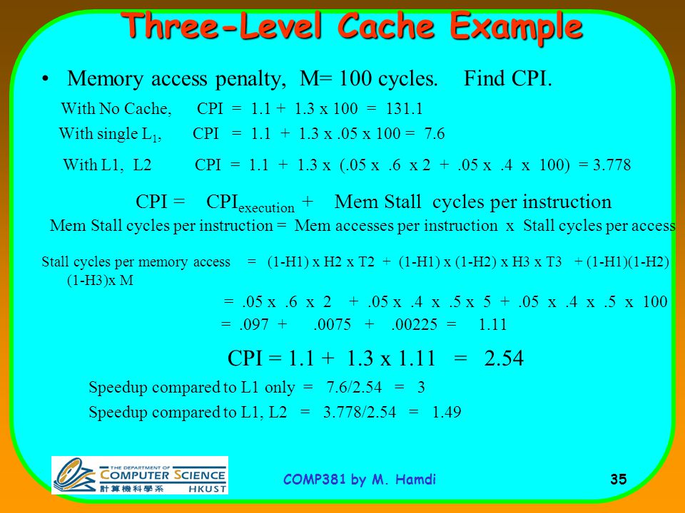 Three-Level Cache Example
