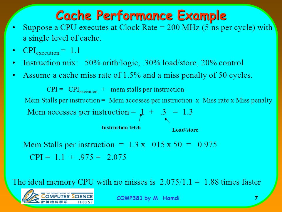 Cache Performance Example
