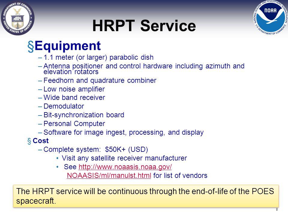 HRPT Service Equipment