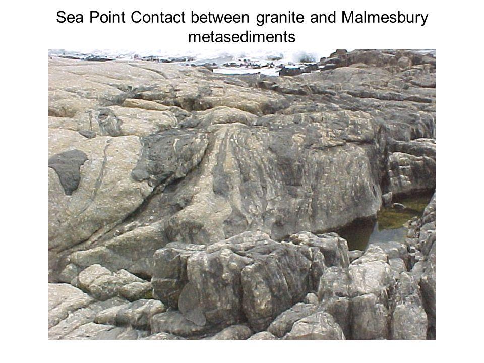 Sea Point Contact between granite and Malmesbury metasediments
