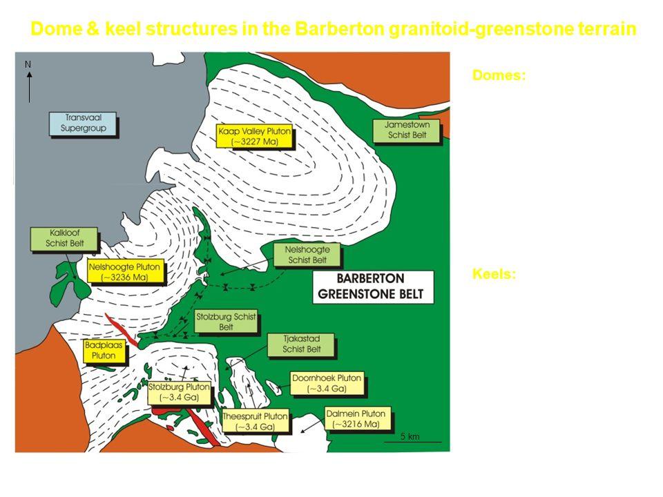 Dome & keel structures in the Barberton granitoid-greenstone terrain
