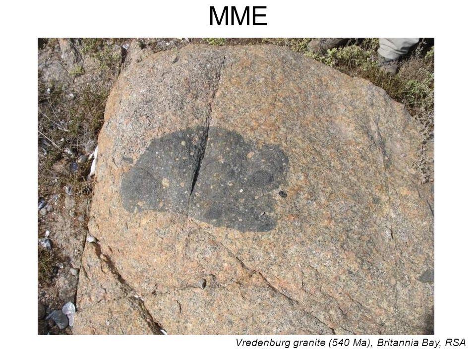 MME Vredenburg granite (540 Ma), Britannia Bay, RSA