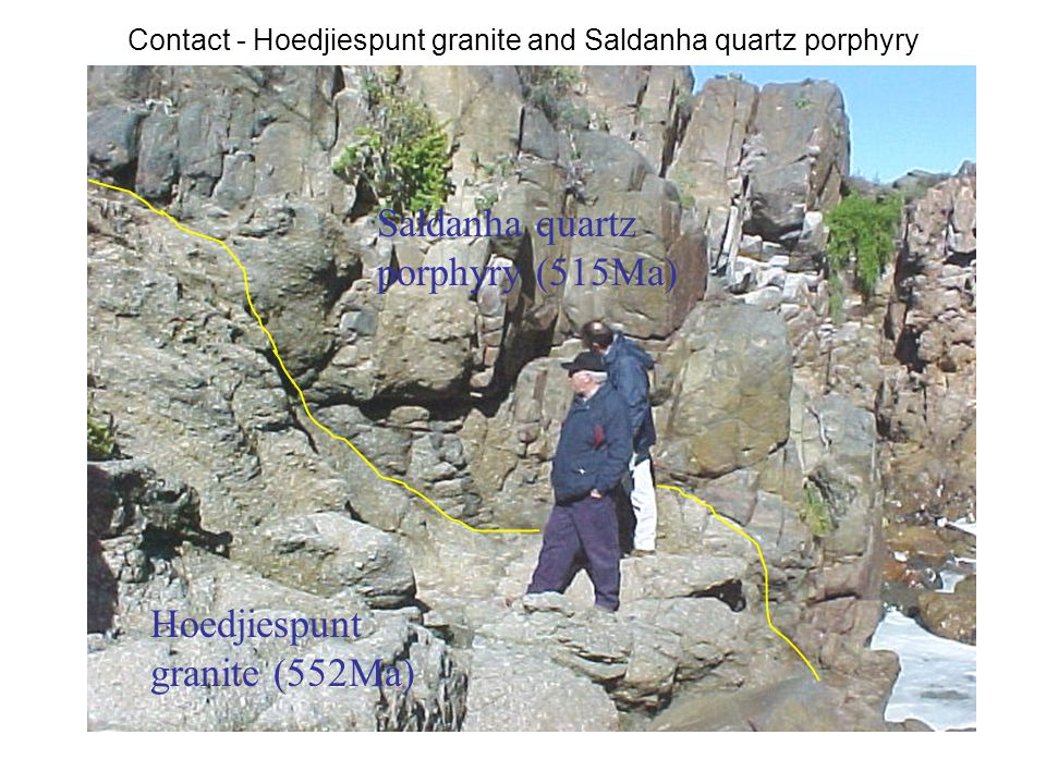 Contact - Hoedjiespunt granite and Saldanha quartz porphyry
