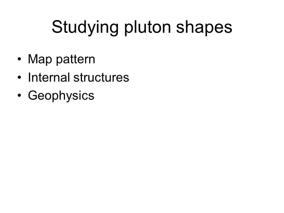 Studying pluton shapes