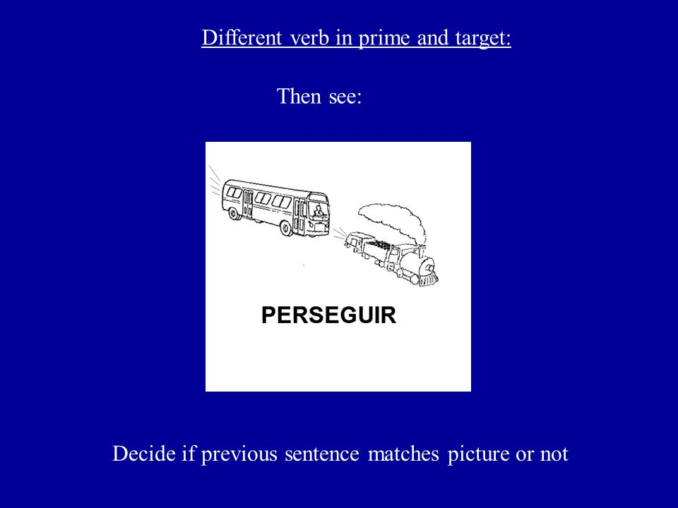 Different verb in prime and target: