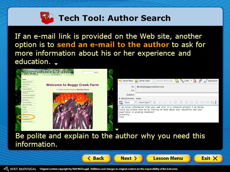 Tech Tool: Author Search
