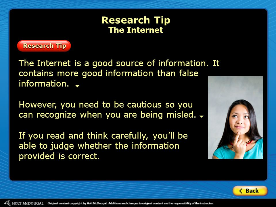 Research Tip The Internet