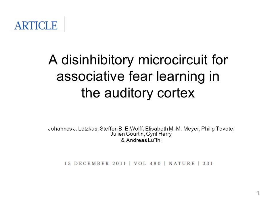 A disinhibitory microcircuit for associative fear learning in the auditory cortex