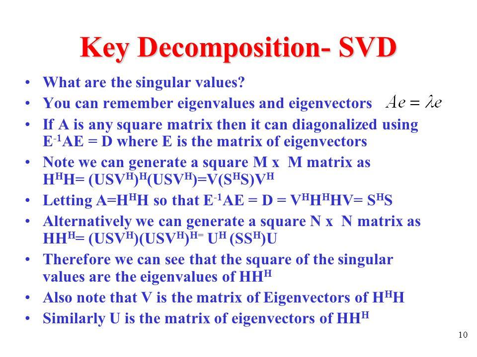 Key Decomposition- SVD