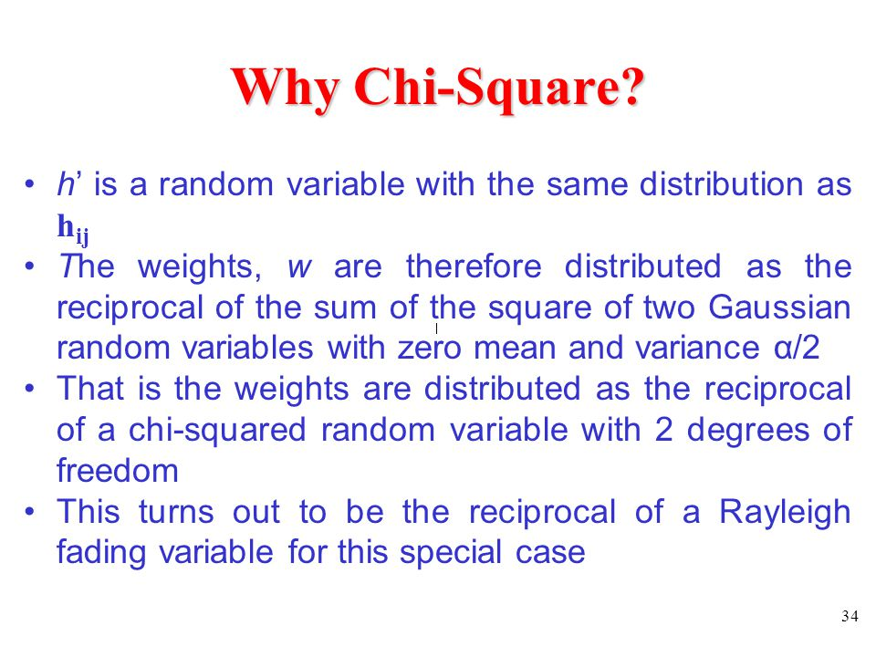 Why Chi-Square h' is a random variable with the same distribution as hij.