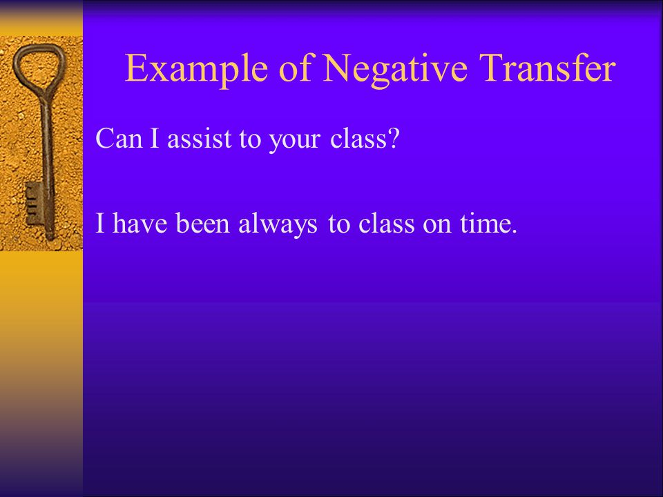 Example of Negative Transfer