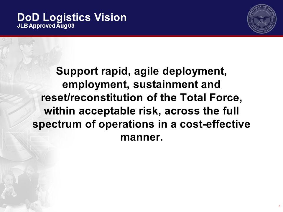 DoD Logistics Vision JLB Approved Aug 03