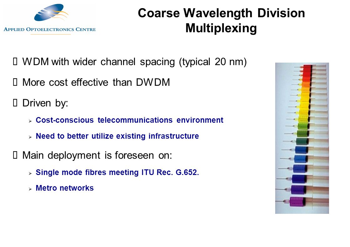 Coarse Wavelength Division Multiplexing