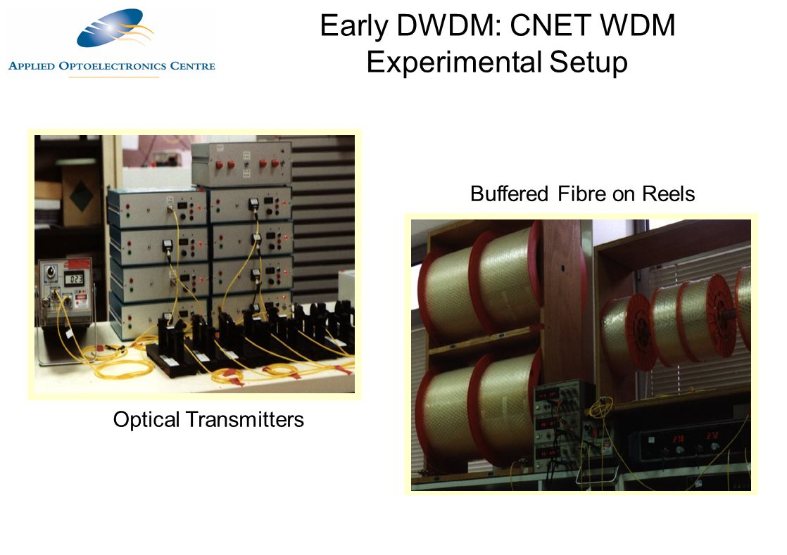 Early DWDM: CNET WDM Experimental Setup
