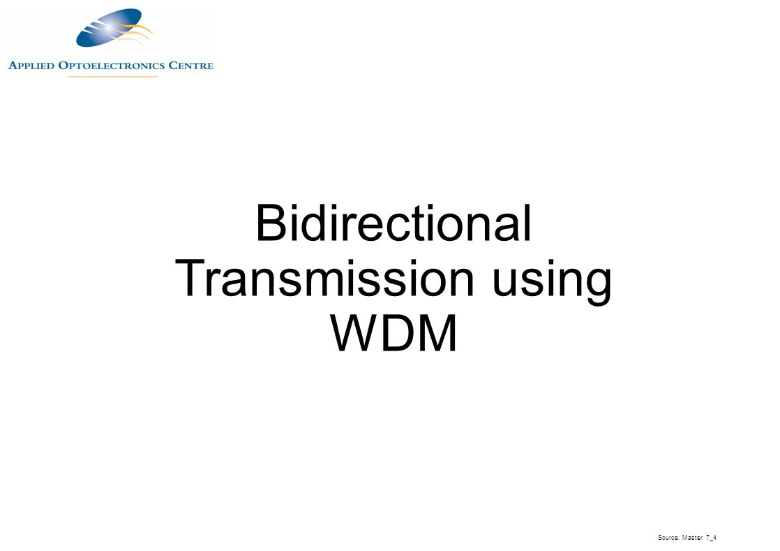 Bidirectional Transmission using WDM