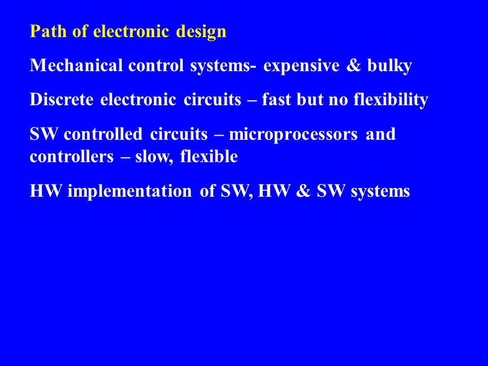 Path of electronic design