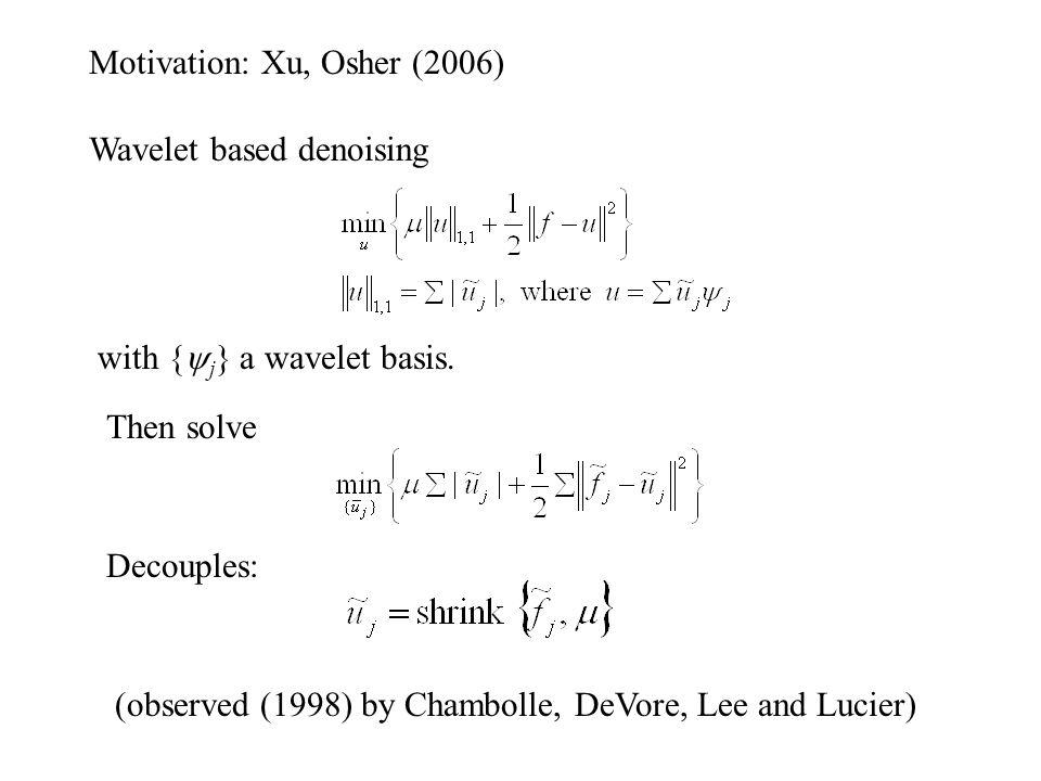 Motivation: Xu, Osher (2006)