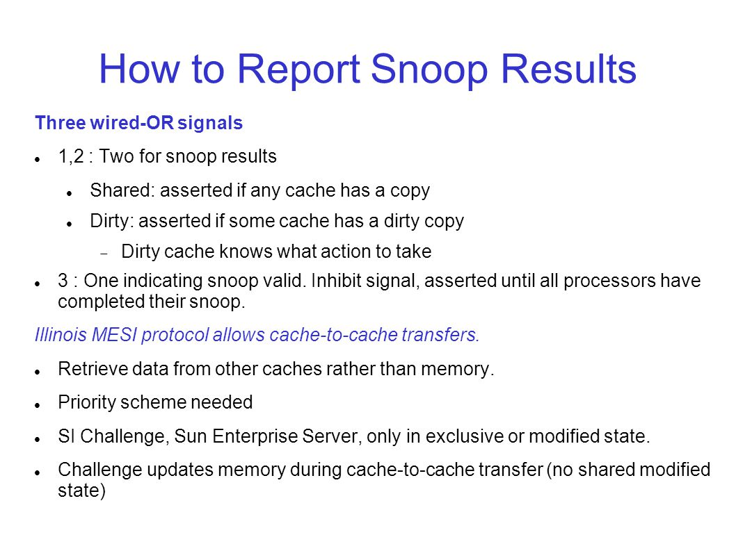 How to Report Snoop Results