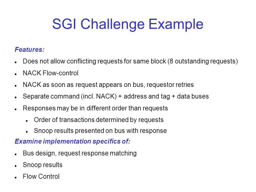 SGI Challenge Example Features: