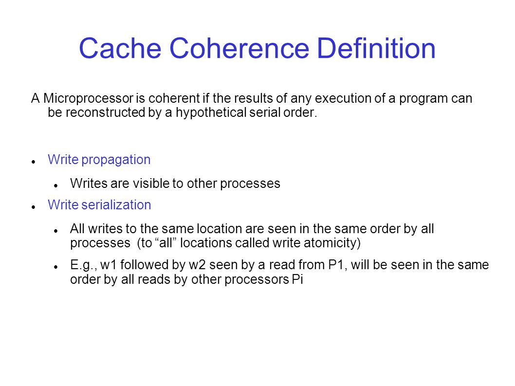 Lecture coherence examples