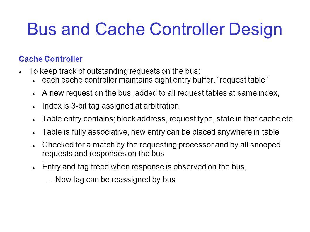 Bus and Cache Controller Design
