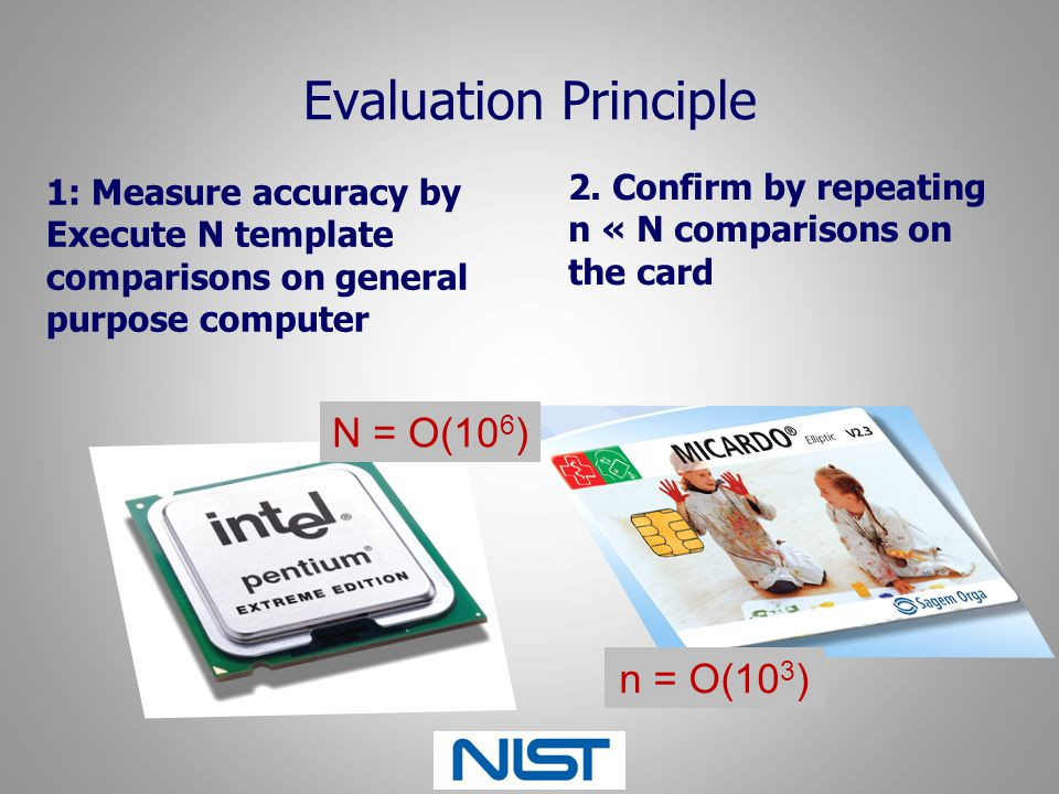 Evaluation Principle N = O(106) n = O(103)