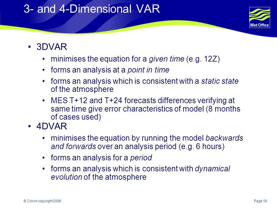 3- and 4-Dimensional VAR 3DVAR 4DVAR