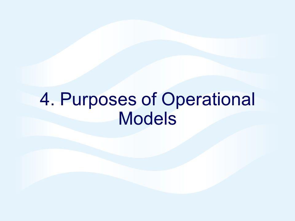 4. Purposes of Operational Models