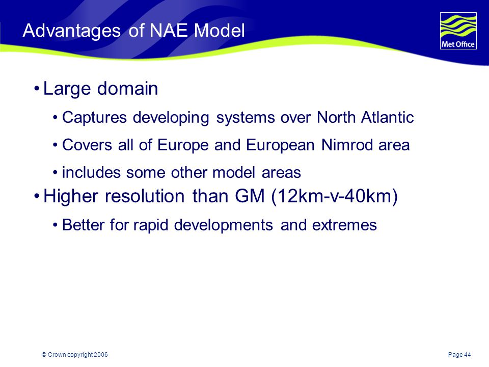Advantages of NAE Model