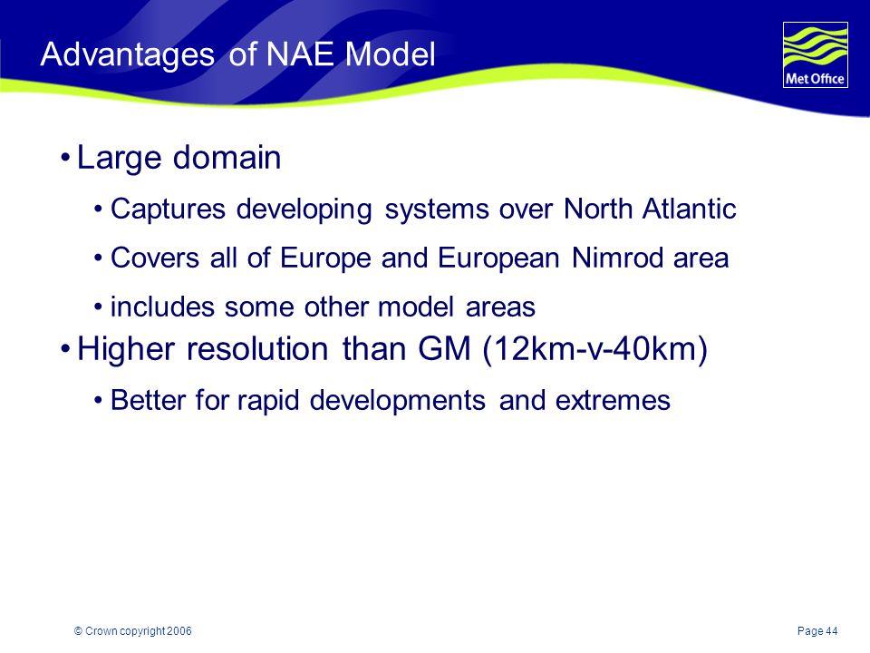 Advantages of NAE Model