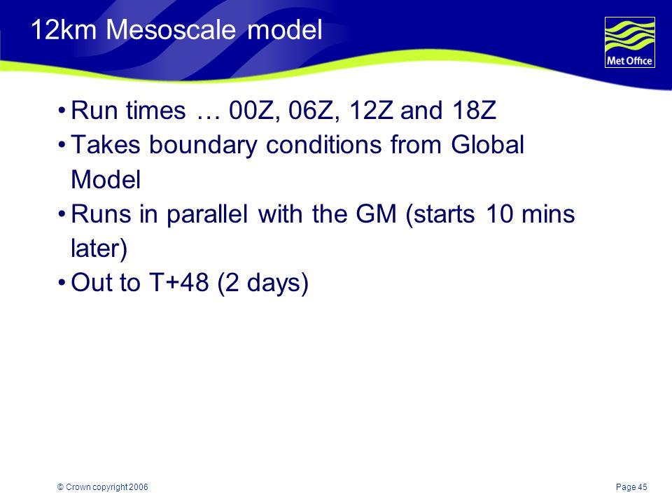 12km Mesoscale model Run times … 00Z, 06Z, 12Z and 18Z