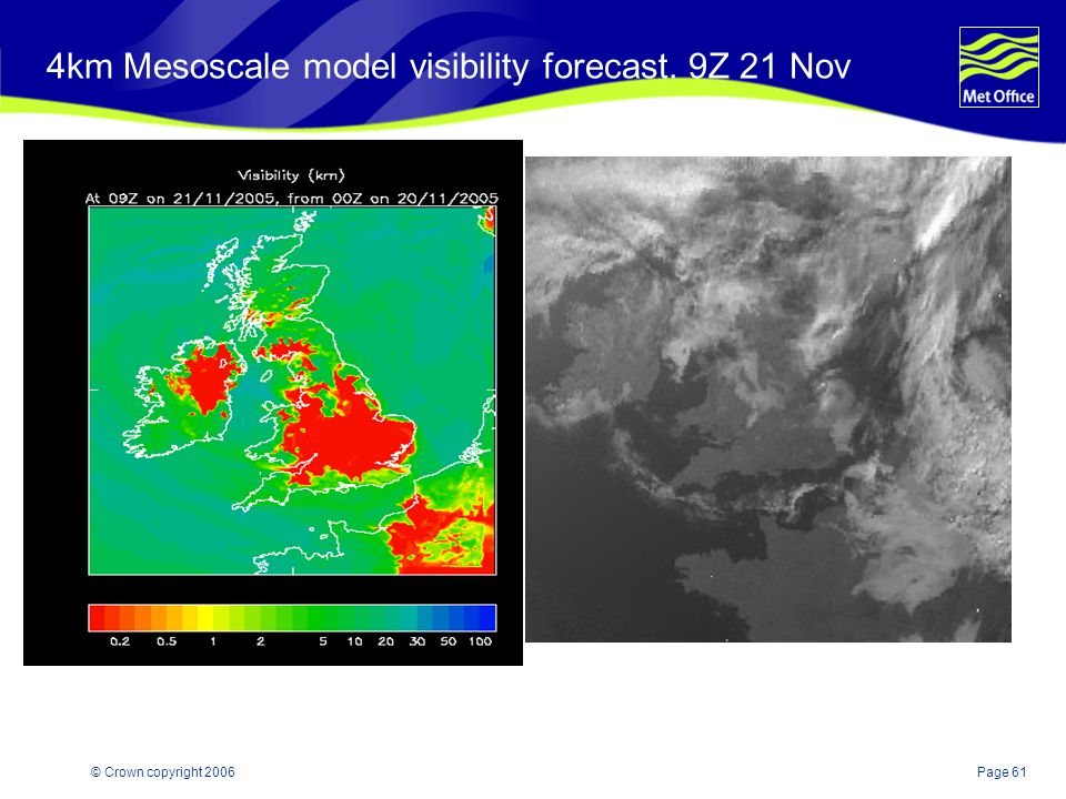 4km Mesoscale model visibility forecast. 9Z 21 Nov